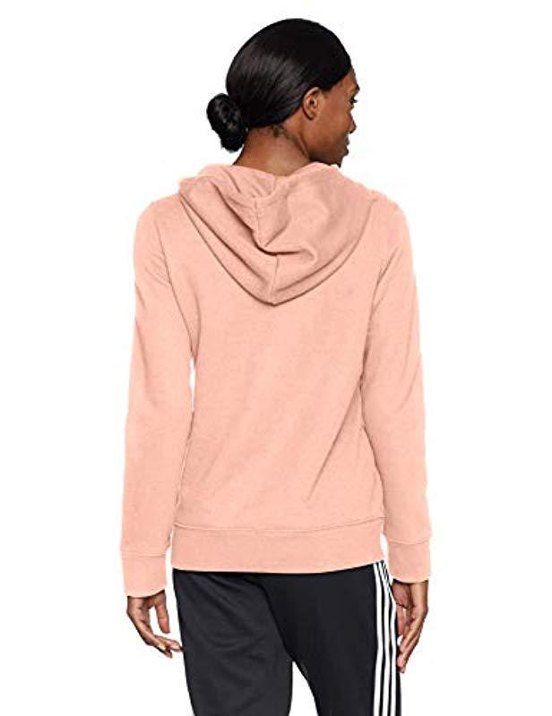 b3175df6a772 Lyst - adidas Originals Trefoil Hoodie in Pink
