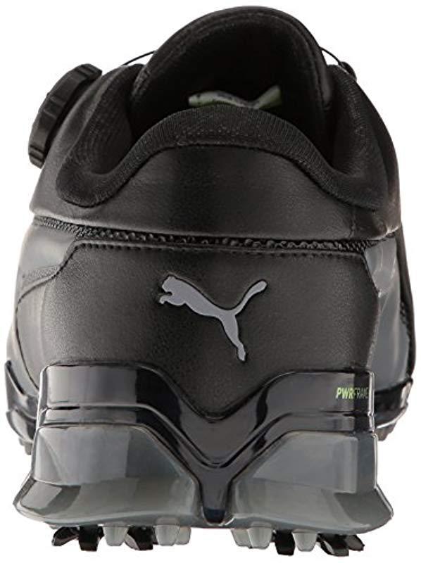 1bccf766c074 PUMA - Black Golf Titantour Ignite Disc Wide Shoes for Men - Lyst. View  fullscreen