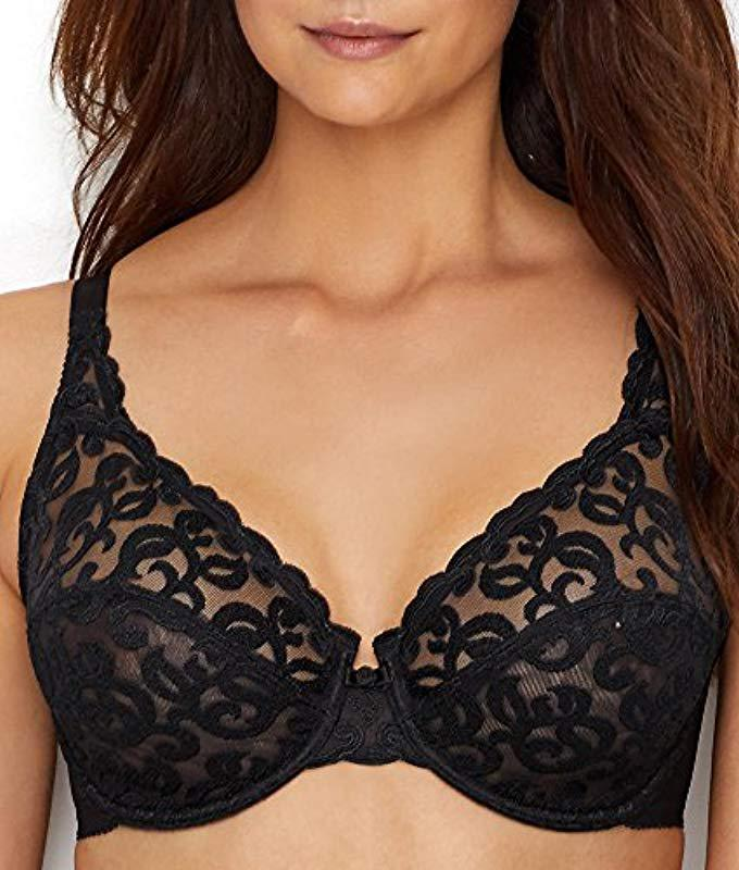 62546a4bb4f39 Lyst - Wacoal Arabesque Underwire Bra  85199 in Black