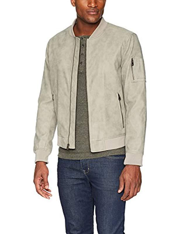 Lyst - Levi S Faux Suede Lightweight Varsity Jacket in Gray for Men 9938066c7a76