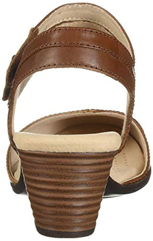 2b8c40d67 Clarks - Brown Valarie Rally Heeled Sandal - Lyst. View fullscreen