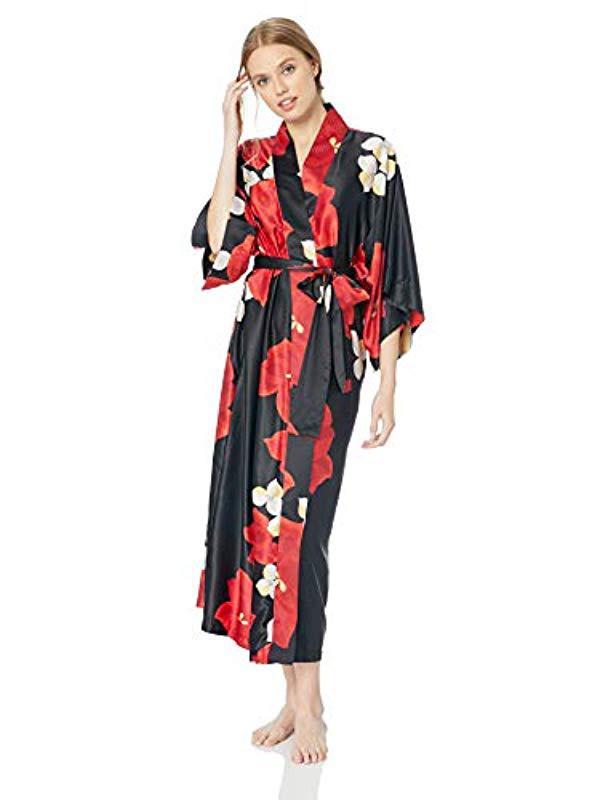 58b6e4e83e Lyst - Natori Printed Charemeuse Robe