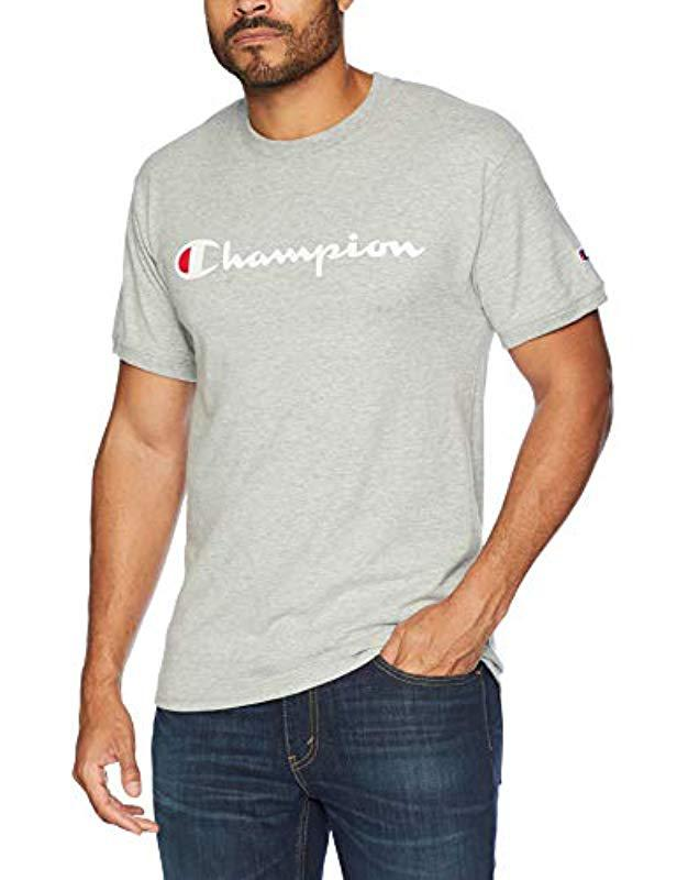 1f223897 Lyst - Champion Classic Jersey Graphic Ringer T-shirt in Gray for ...
