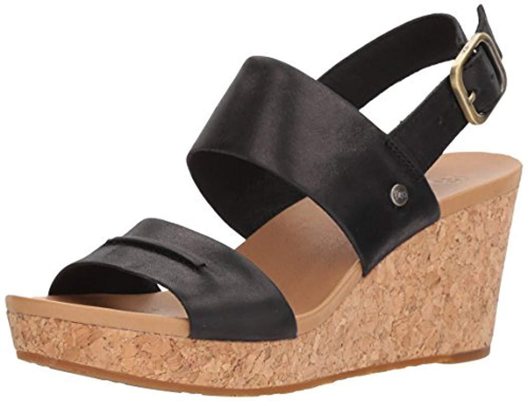 e07c862cb32 Lyst - UGG Elena Ii Wedge Sandal in Black - Save 40%
