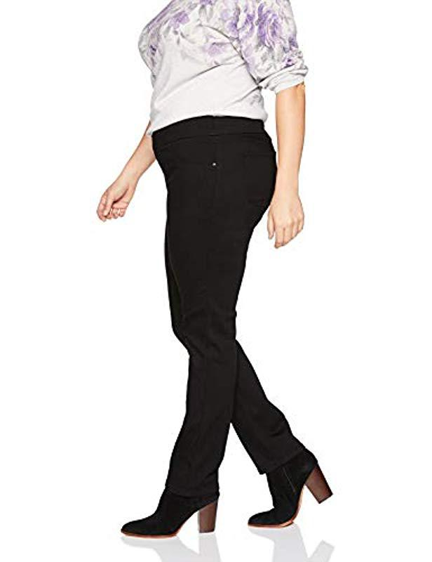 2ac40fdd Lyst - Lee Jeans Plus Size Sculpting Slim Fit Slim Leg Pull On Jean in Black