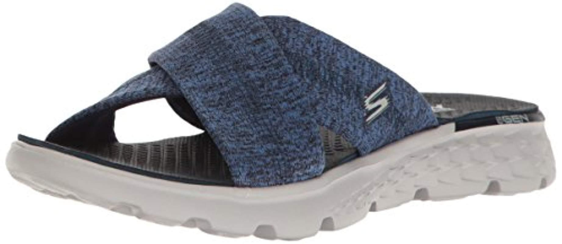 bf8e51a32ee1 Lyst - Skechers Performance On The Go 400 Tropical Flip Flop in Blue ...
