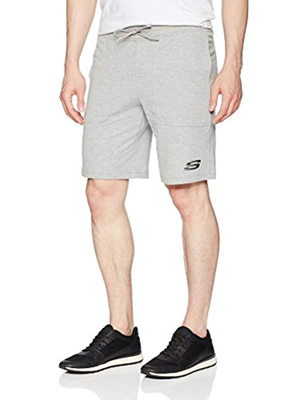 30c72acf30c1 Lyst - Skechers French Terry Short