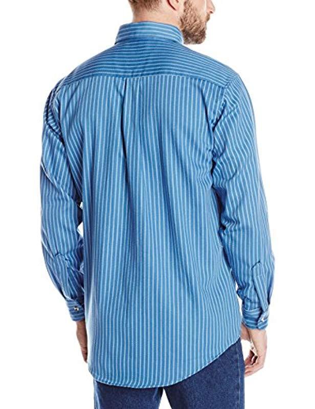 033abd90e01e Lyst - Wrangler Riggs Workwear  s Fr Flame Resistant Long Sleeve Work Shirt  in Blue for Men