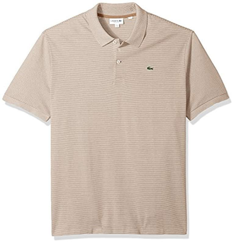 Lyst - Lacoste Short Sleeve Mille-raye Mini Striped Pique Reg Fit ... c3a5a877d6eb