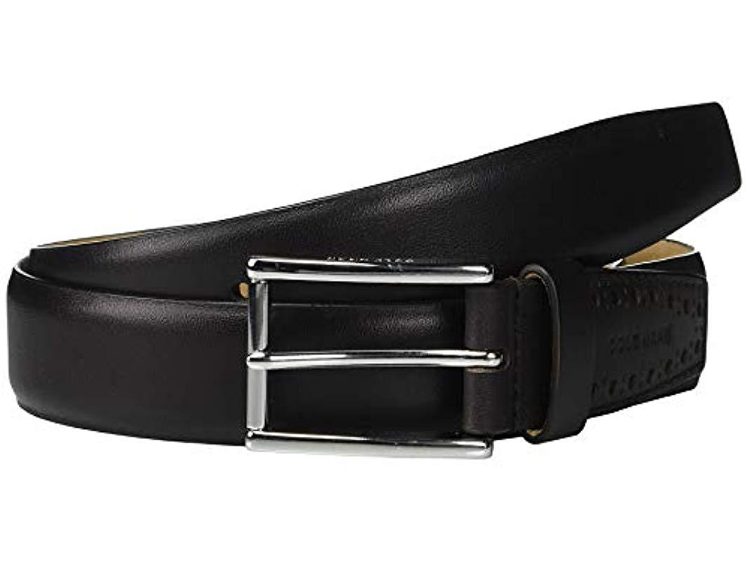 6f309b9c174 Lyst - Cole Haan 32mm High Shine Leather Dress Belt in Black for Men