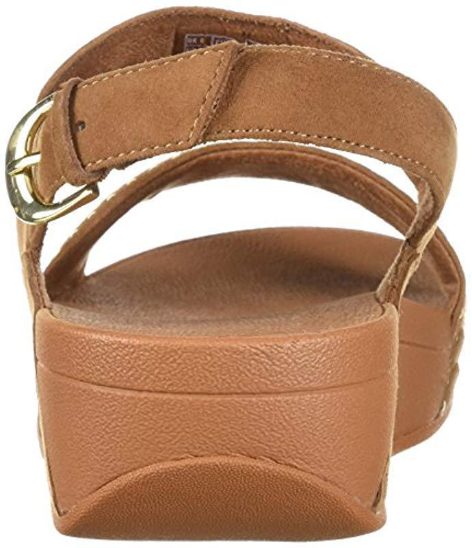 9957a3aecb8be Fitflop - Brown Lulu Aztek Stud Back-strap Sandals - Lyst. View fullscreen