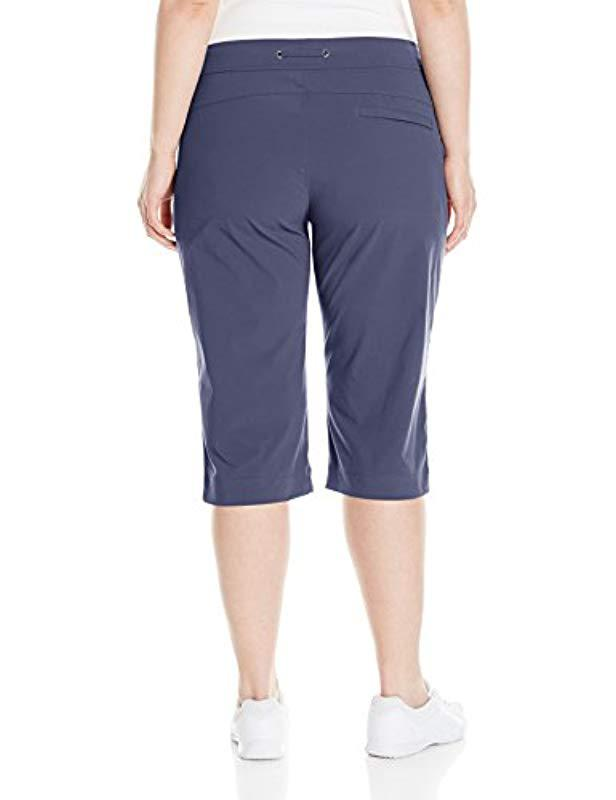 530f49caeab Lyst - Columbia Plus-size Anytime Outdoor Capri Pants in Blue