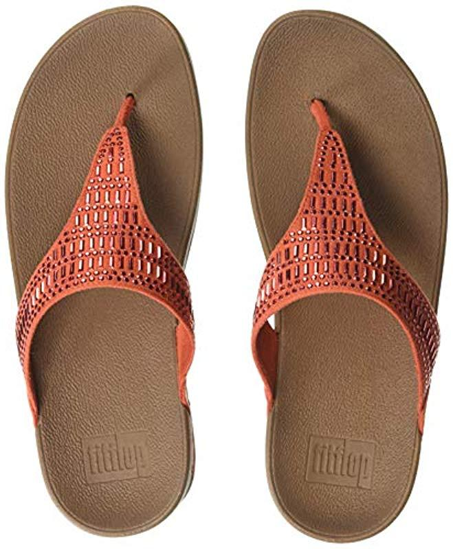 753e61a7aecf46 Lyst - Fitflop Incastone Toe-thong Sandals Flip-flop in Red