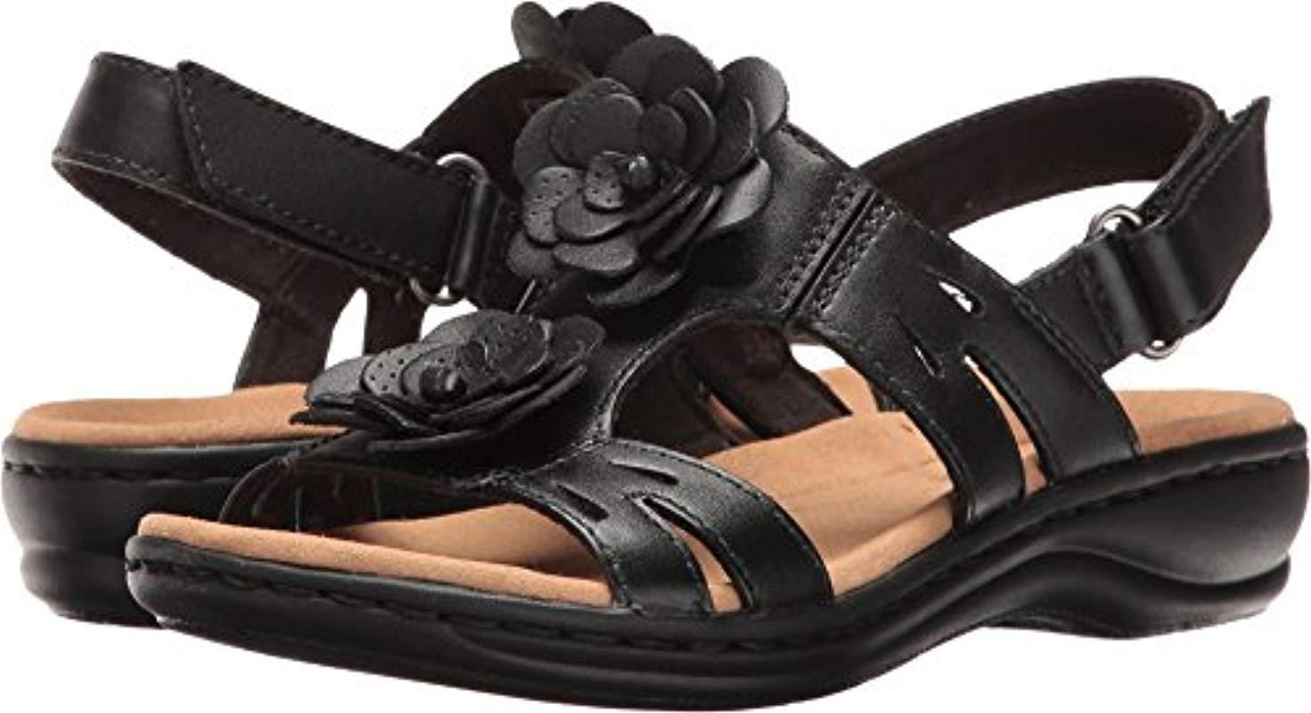 ef58dc82072 Lyst - Clarks Leisa Claytin Flat Sandal in Black - Save 23%