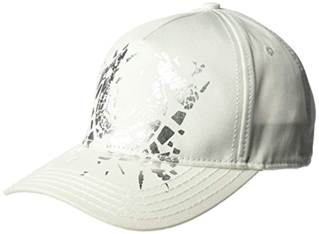 7ae5a66aedef2 Lyst - True Religion Shattered Horseshoe Cap in White for Men - Save 6%