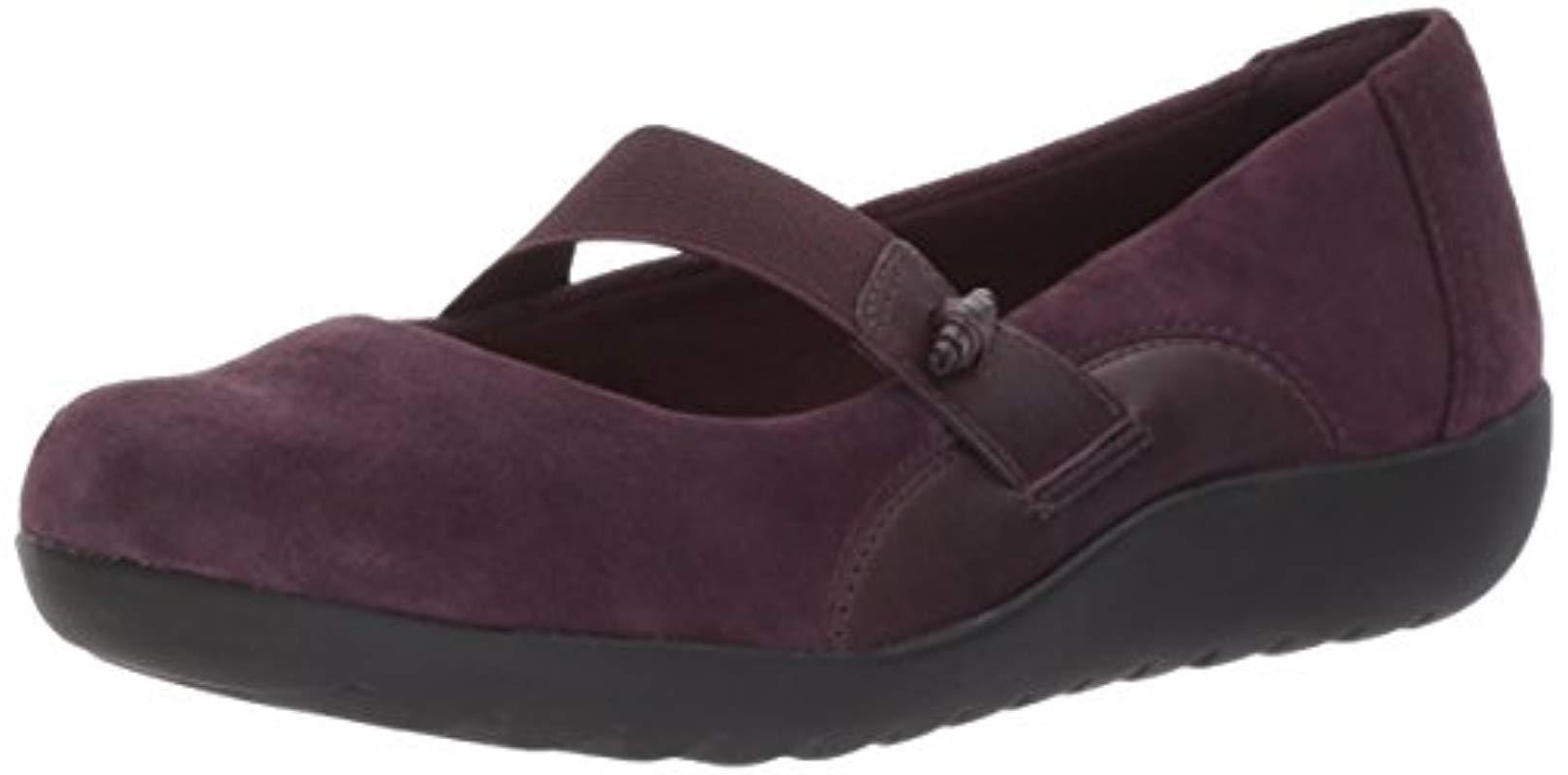 9b6197de8d1a25 Lyst - Clarks Medora Frost Mary Jane Flat in Purple