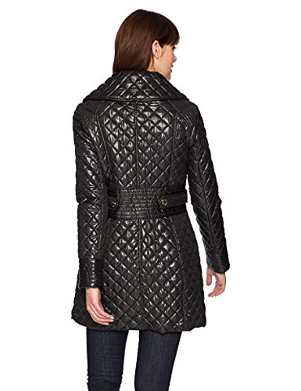 6868e179e28 Lyst - Via Spiga Lightweight Quilted Jacket With Side Tabs in Black