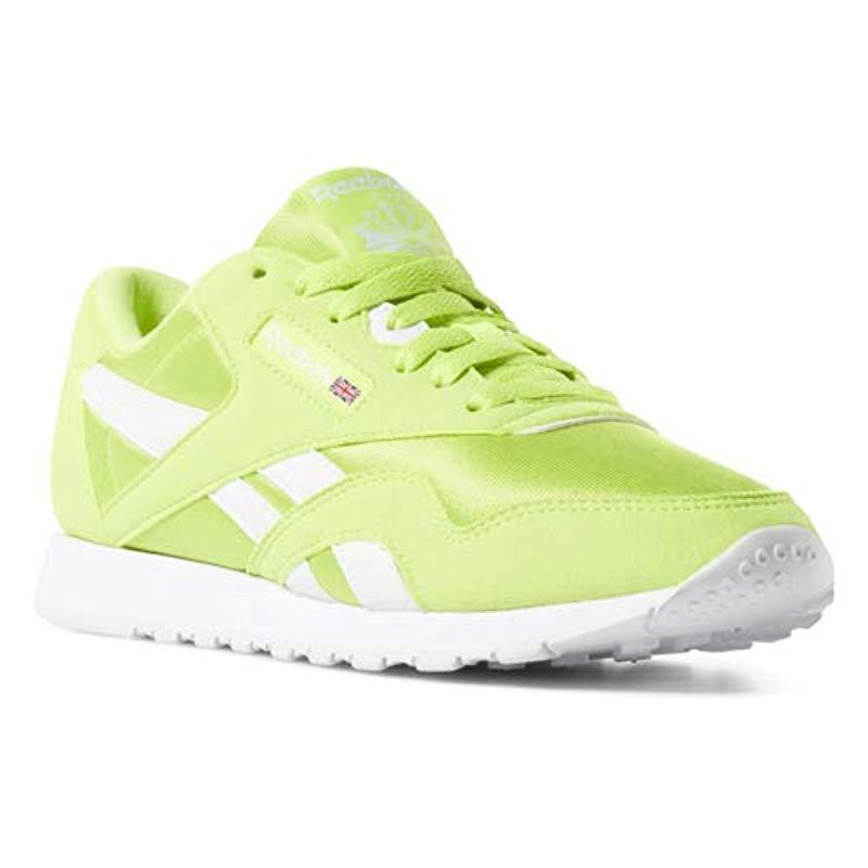 e2b88638241f3 Lyst - Reebok Classic Nylon Sneaker Neon Lime white 4 M Us in White
