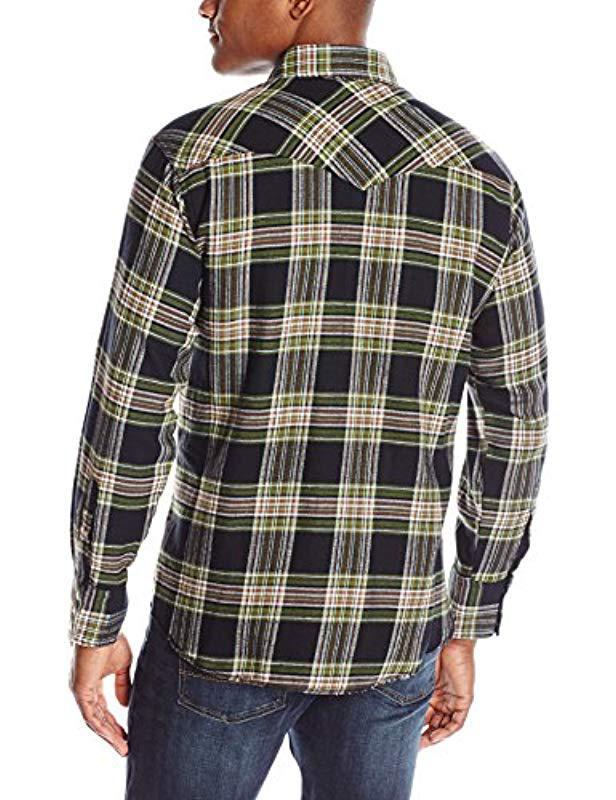 88dc3a50 Lyst - Wrangler Western Lightweight Flannel Shirt for Men - Save  4.545454545454547%