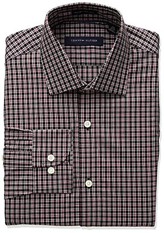 180ca03f Tommy Hilfiger Dress Shirts Non Iron Slim Fit Check for Men - Lyst