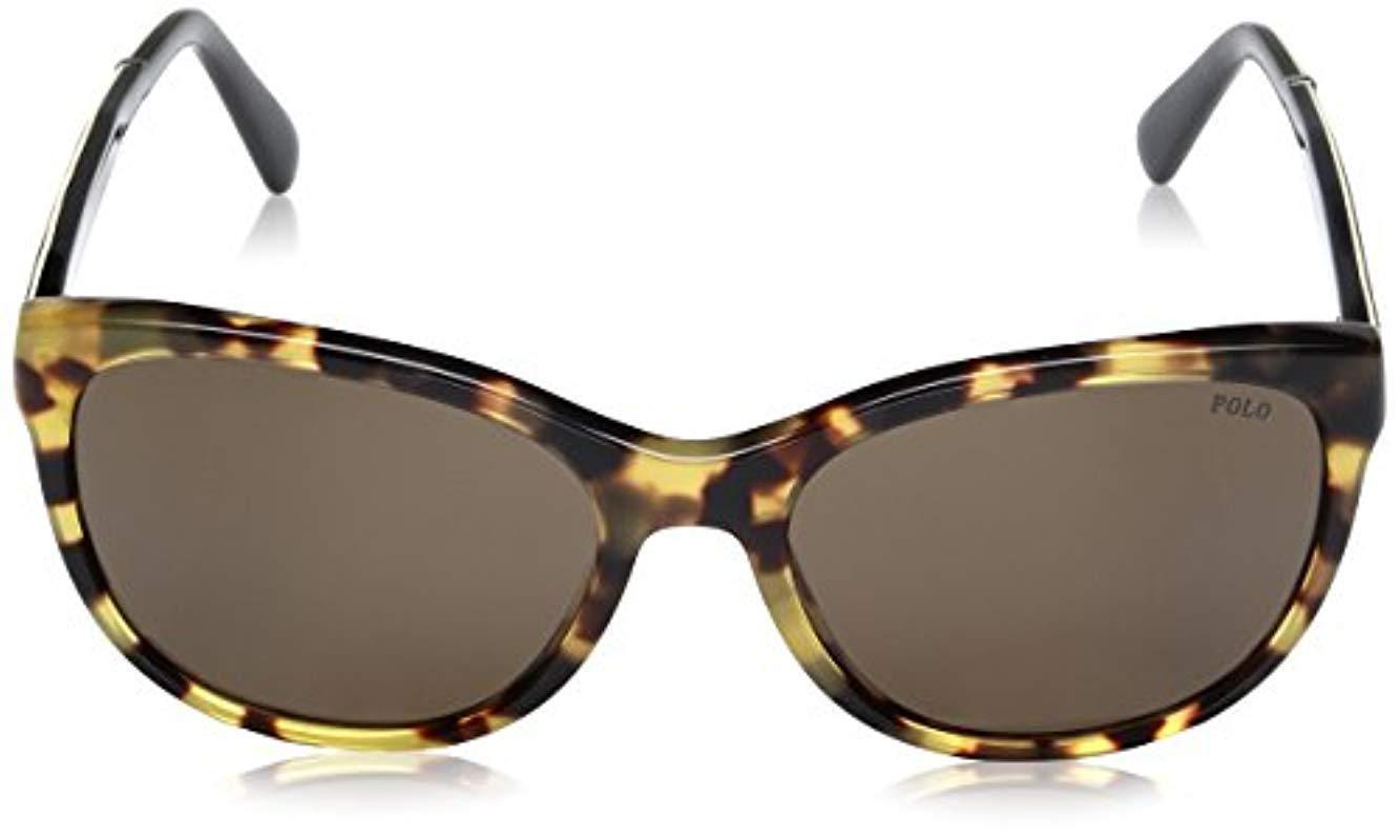 c4a225c1d500 Polo Ralph Lauren - Multicolor Acetate Woman Wayfarer Sunglasses - Lyst.  View fullscreen