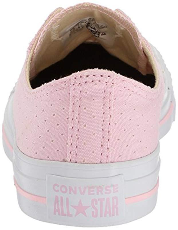 f084f58cbffc Lyst - Converse Chuck Taylor All Star Perforated Canvas Low Top Sneaker -  Save 20%