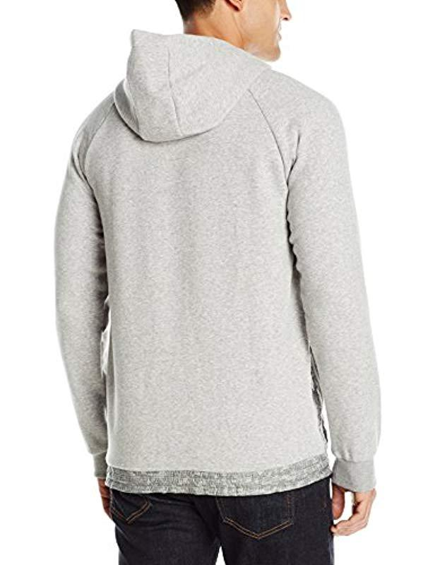 79c105db1d65 Lyst - adidas Originals Sport Luxe Mixed Fabric Hoodie in Gray for Men -  Save 12%