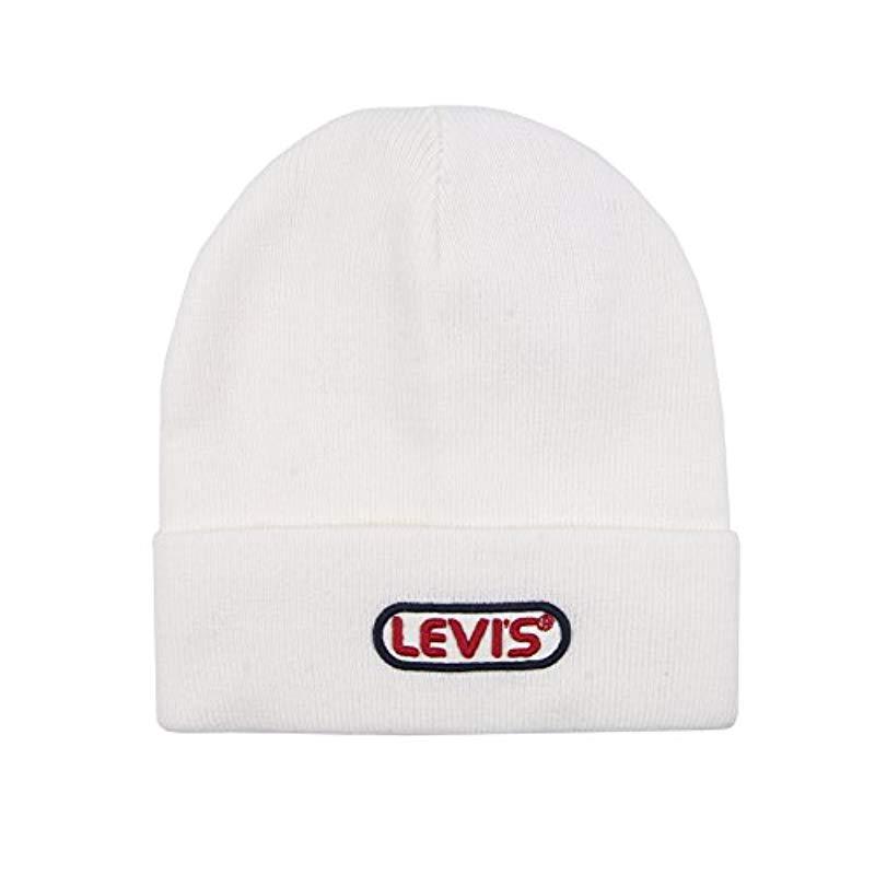 b0a24e3b37ecde Lyst - Levi's Warm Winter Knit Skullie Beanie in White for Men
