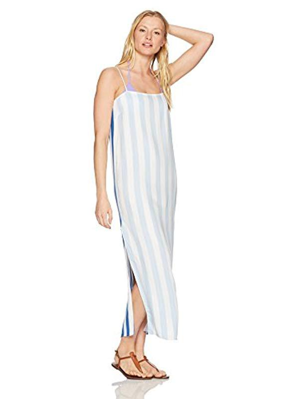 Lyst - Mara Hoffman Sena Spaghetti String Cover Up Dress in Blue f1452add2