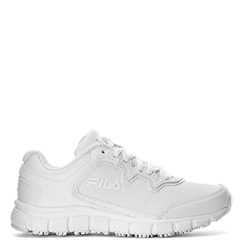 e26f8a391d5e Fila. Women s White  s Memory Fresh Start 2 Slip Resistant Work Shoe
