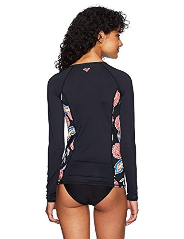 3463c7c2c9 Lyst - Roxy Softly Love Fashion Long Sleeve Swim Rashguard in Blue ...