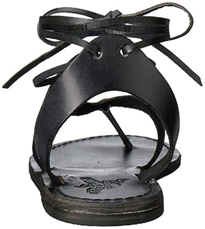 16c6f0ad5bf Lyst - Freebird Hippy Flat Sandal in Black