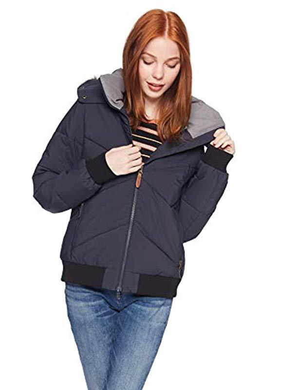 28574502213f Roxy - Black Hanna Bomber Snow Jacket - Lyst. View fullscreen