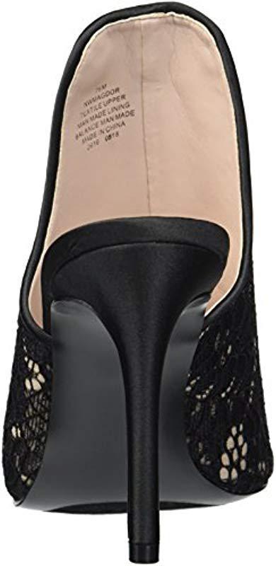 2f6f3e86ef1 Nine West - Black Magdor Fabric Heeled Sandal - Lyst. View fullscreen