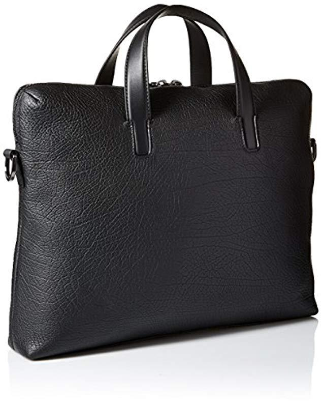 8064d67ca929 Lyst - BOSS Hugo By Victorian Leather Single Document Case in Black for Men
