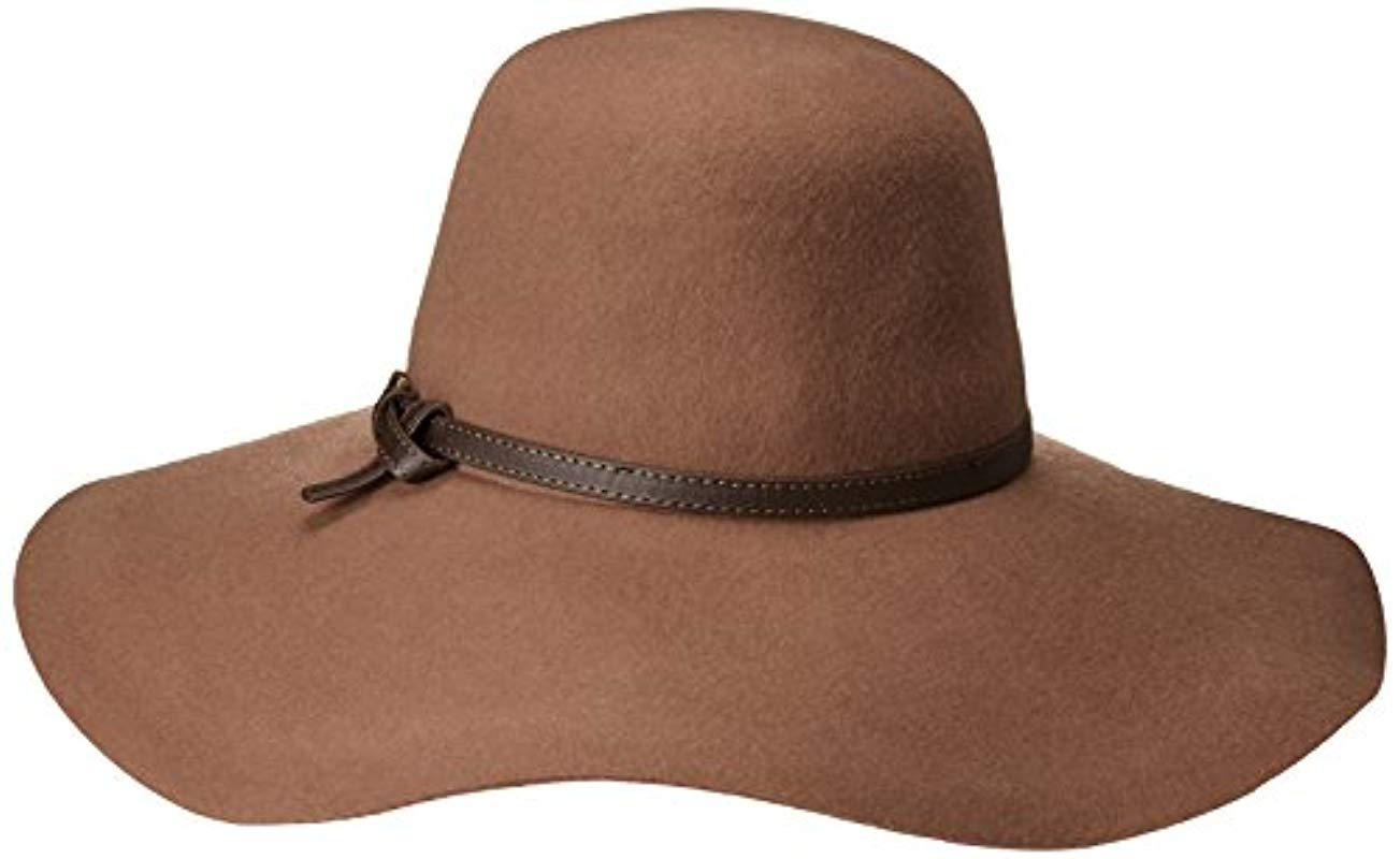55e6586aa6add ... Wide Brim Floppy Hat With Faux Leather Band - Lyst. View fullscreen