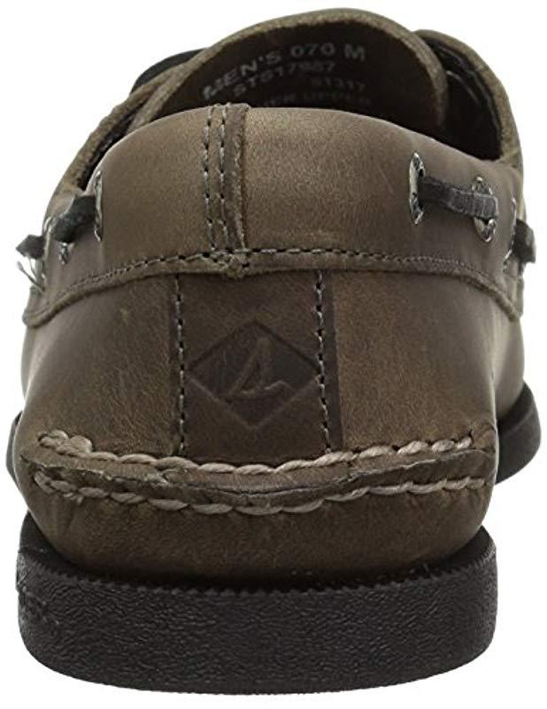 732021ef14b Lyst - Sperry Top-Sider A o 2-eye Pullup Boat Shoe in Gray for Men - Save  41%