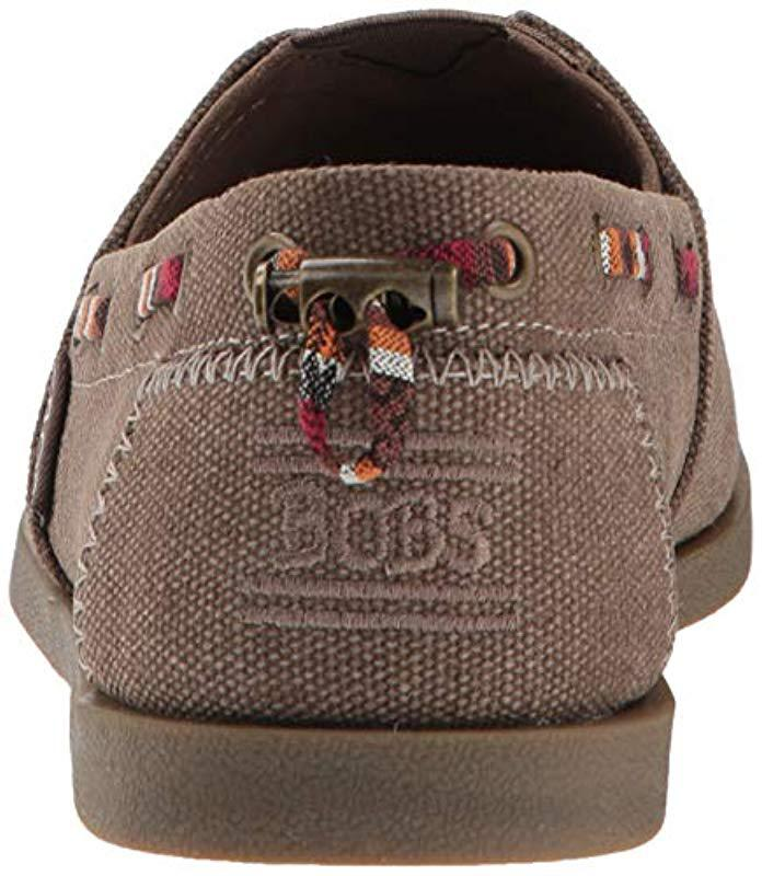 a11c5bd19a8c Lyst - Skechers Bobs Chill Luxe-autumn Crush. Canvas Slip On W ...