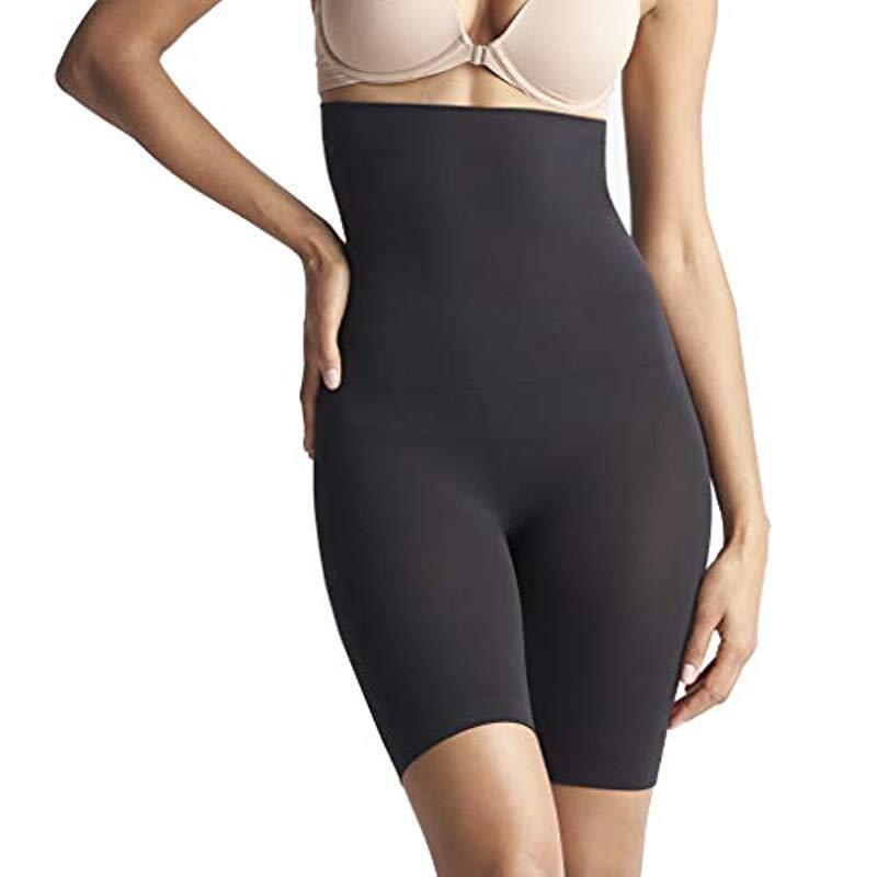 3d5bd530af0 Lyst - Yummie Cooling Fx High Waist Thigh Shaper Shapewear in Black