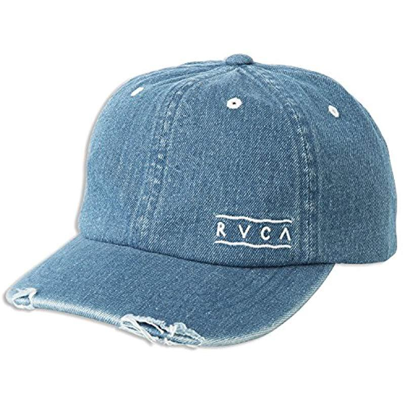 Lyst - Rvca Holla Curved Bill Dad Hat in Blue 70b52af7059