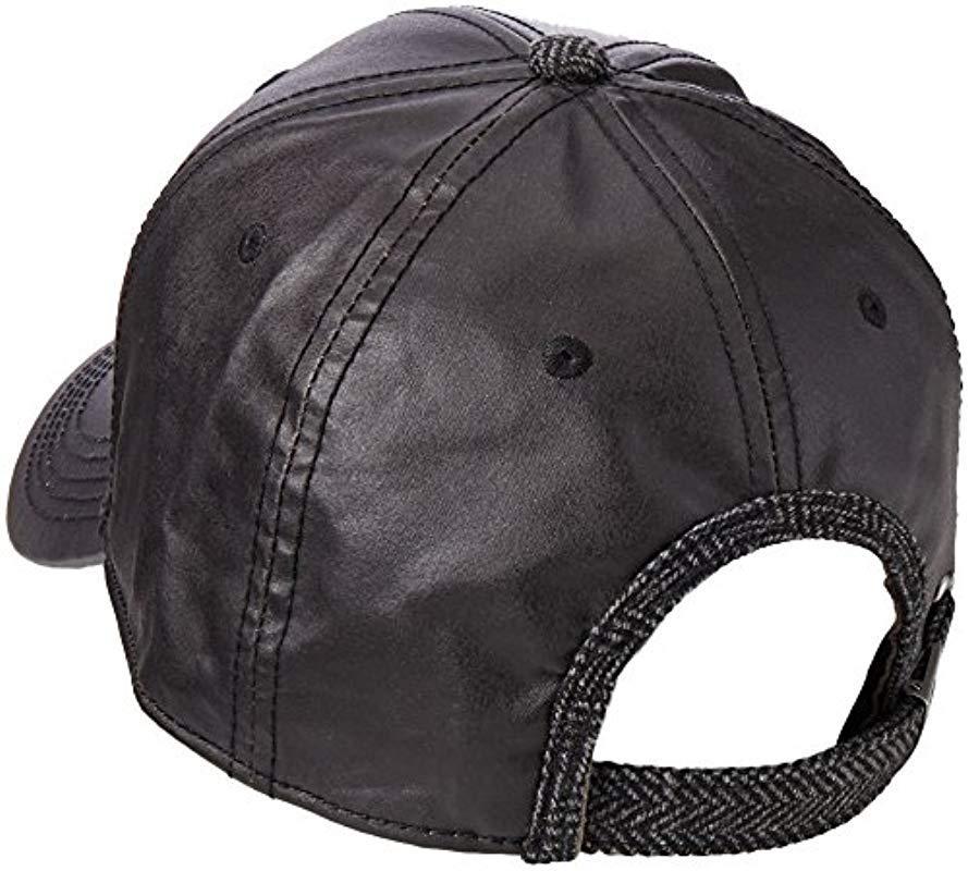 7ec74b3ff30 Original Penguin - Black Waxed Fabric Baseball Cap for Men - Lyst. View  fullscreen