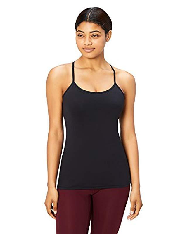 26e1db8d34eaf Core 10. Women s Black Yoga Fitted Support Tank ...