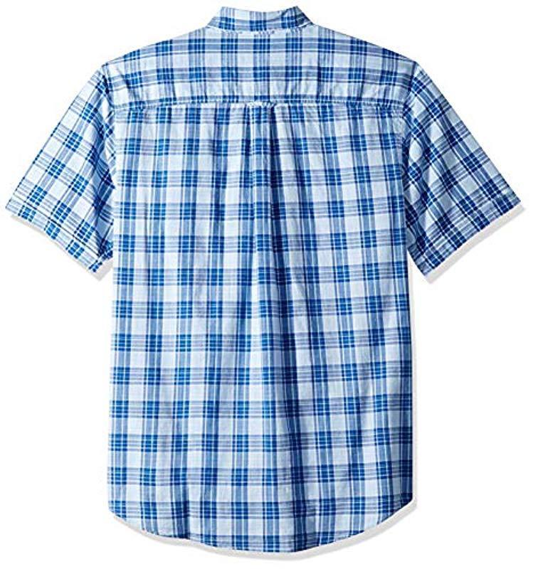 24e7112d905 ... Saltwater Dockside Button Down Short Sleeve Plaid Shirt for Men - Lyst.  View fullscreen
