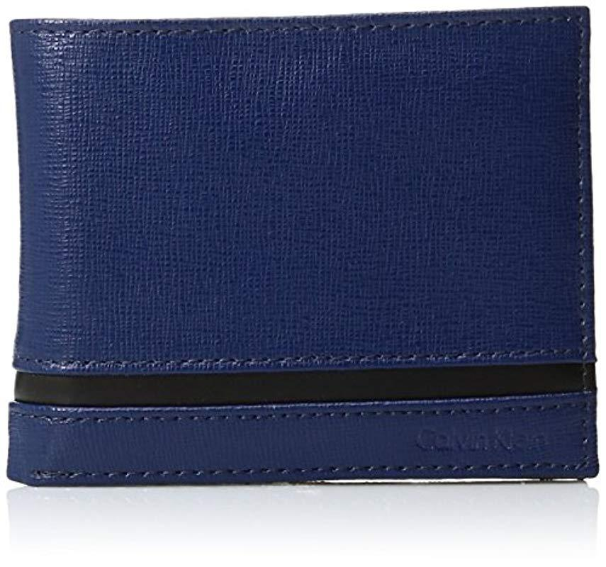 1937709d76 Lyst - Calvin Klein Passcase And Key Fob in Blue for Men - Save 12%