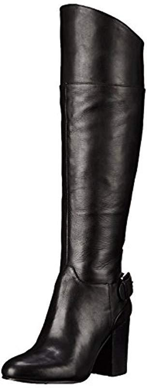 f865fc4d266eb Lyst - Vince Camuto Sidney Riding Boot in Black