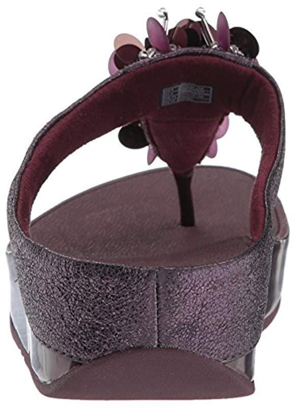 58cbc40b32fad3 Fitflop - Purple Boogaloo Toe Post Flip Flop - Lyst. View fullscreen