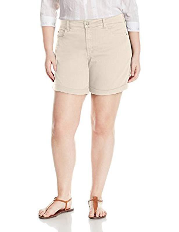 a8f7e62695 NYDJ. Women's Plus Size Avery Jean Short In Colored Bull Denim