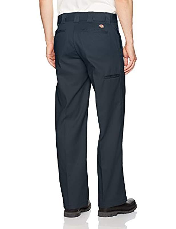 74805ea4 Lyst - Dickies Flex Double Knee Work Pant Loose Straight Fit, Dark Navy, 32  30 in Blue for Men - Save 11%