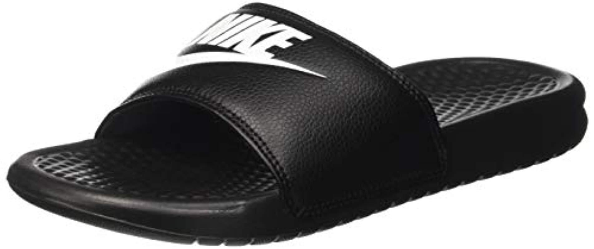 finest selection 51324 ebc54 Nike. Men s Black Benassi Just Do It Sandals