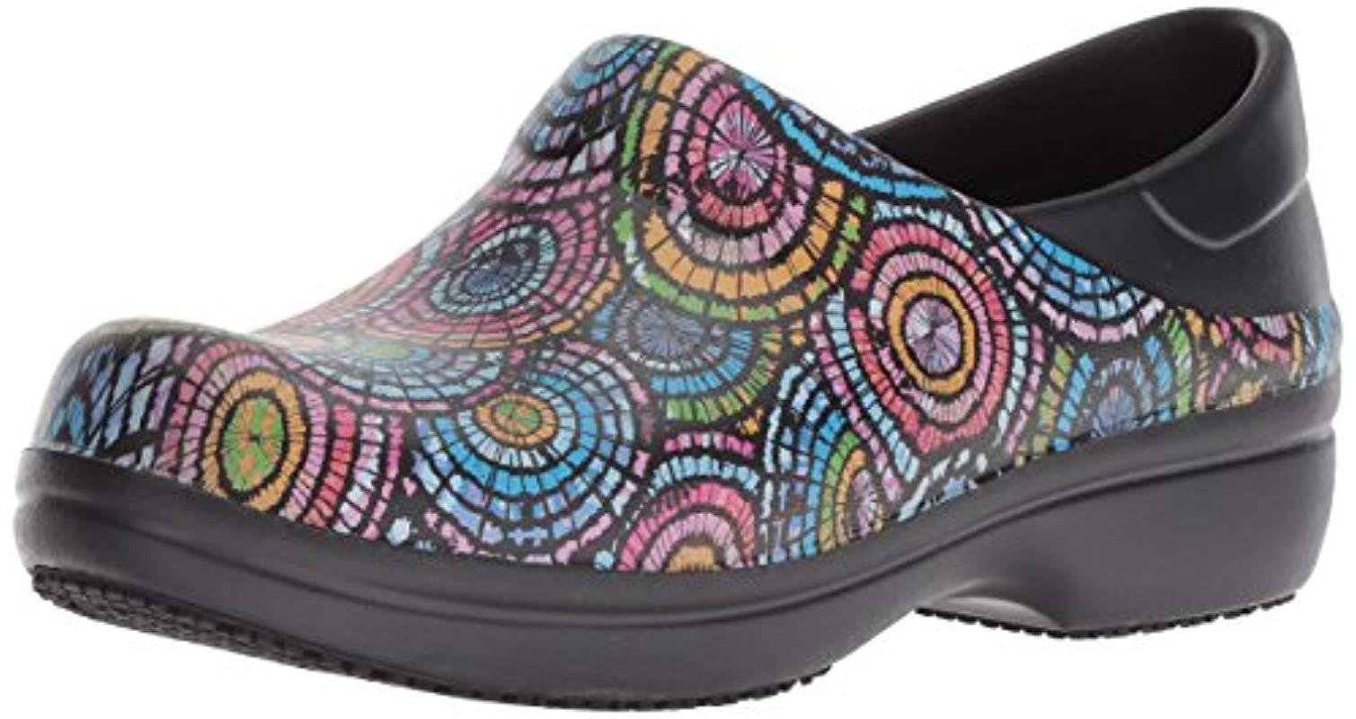 2d793843c5b80 Crocs™. Women's Black Neria Pro Ii Graphic Clog | Slip Resistant Work And  Nursing Shoe